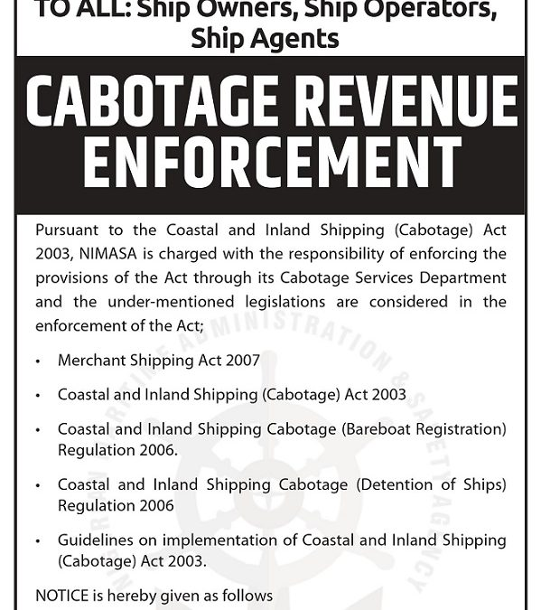 CABOTAGE REVENUE ENFORCEMENT