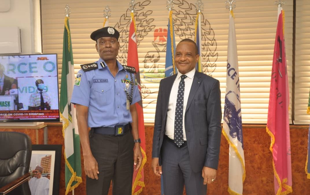 PHOTO NEWS 2: NIMASA DG VISITS INSPECTOR GENERAL OF NIGERIAN POLICE